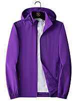 cheap -Women's Hiking Softshell Jacket Hiking Windbreaker Autumn / Fall Spring Summer Outdoor Solid Color Quick Dry Lightweight Breathable Stretchy Jacket Hoodie Top Nylon Elastane Full Length Visible Zipper