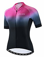 cheap -cycling jersey women bike jersey full zipper cycle shirt short sleeve road bicycle clothing riding racing mtb top clothes for lady female mountain sports top summer pink gray size l