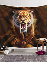 cheap -Wall Tapestry Art Decor Blanket Curtain Hanging Home Bedroom Living Room Tiger Animal  Psychedelic