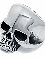 cheap -van unico stainless steel skull head solid ring for men retro pinky ring (7)