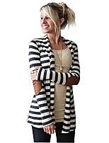 cheap -striped cardigans women casual long sleeve oversized patchwork outwear coat comfy jackets anjunie(white, xxl)