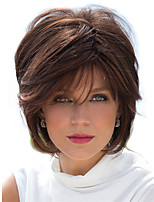 cheap -Synthetic Wig Curly Layered Haircut Short Bob Wig Short Dark Brown Synthetic Hair Women's Party Fashion Comfy Dark Brown