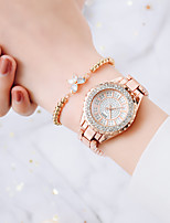 cheap -Women's Steel Band Watches Analog Quartz Stylish Minimalist Diamond