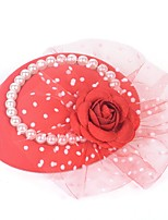 cheap -Retro Pearl Tulle Fascinators with Floral / Pearls 1 Piece Special Occasion / Party / Evening Headpiece