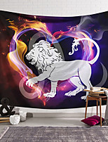 cheap -Wall Tapestry Art Decor Blanket Curtain Hanging Home Bedroom Living Room Colourful Polyester Lion