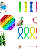 cheap -13 pcs Fidget Sensory Toy Set Stress Relief Toys Autism Anxiety Relief Stress Pop Bubble Fidget Sensory Toy For Kids Adults