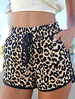 cheap -Women's Jogger Shorts Side Pockets Drawstring Cotton Leopard Sport Athleisure Shorts Bottoms Breathable Quick Dry Soft Comfortable Exercise & Fitness Running Everyday Use Casual Daily Outdoor