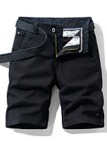 """cheap -Men's Hiking Shorts Hiking Cargo Shorts Military Solid Color Summer Outdoor 10"""" Ventilation Multi-Pockets Breathable Cotton Shorts Bottoms Black Burgundy Blue Khaki Beach Traveling 28 29 30 31 32"""