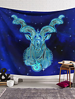 cheap -Wall Tapestry Art Decor Blanket Curtain Hanging Home Bedroom Living Room Color blue Polyester Sheep