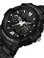 cheap -WLISTH Men's Digital Watch Analog - Digital Digital Sporty Big Face Water Resistant / Waterproof Chronograph Alarm Clock / One Year / Silicone