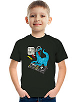 cheap -Kids Boys' Tee Short Sleeve Graphic Animal Children Tops Active Black