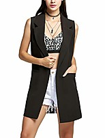 cheap -vencann women's stylish solid sleeveless lapel waistcoat cardigan (color : black, size : s)