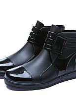 cheap -Men's Rain Boots Casual Daily Outdoor Walking Shoes Cowhide Breathable Non-slipping Black Summer