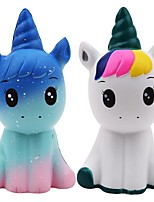 cheap -Lovely Unicorn Squishy Simulation PU Bread Slow Rising Scented Soft Squeeze Toy Stress Relief for Kid Xmas Gift