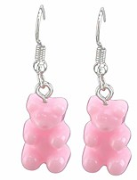 cheap -cngstar candy jelly color gummy bear drop earrings creative dangle earrings for women girls,pink