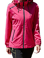 cheap -Women's Hiking Softshell Jacket Hoodie Jacket Hiking Windbreaker Summer Outdoor Solid Color Waterproof Windproof Quick Dry Lightweight Jacket Top Full Length Visible Zipper Hunting Fishing Climbing