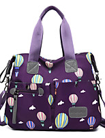 cheap -Women's Bags Oxford Cloth Tote Top Handle Bag Zipper Geometric Daily 2021 Handbags Pink Black Blue Purple