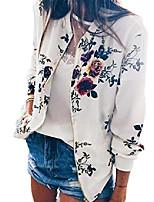 cheap -rrinsins women long sleeve zipper floral printed jacket short bomber jacket coat white xxxl