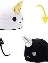 cheap -Reversible Unicorn Whale Plushie Stuffed Animal Mood Plush Double-Sided Flip Show Your Mood Without Saying a Word