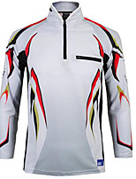 cheap -Men's Fishing Jacket Skin Coat Outdoor UPF50+ Quick Dry Lightweight Breathable Jacket Spring Summer Fishing Camping & Hiking Cycling / Bike Black / Red White Black / Blue / Long Sleeve / Stretchy