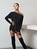 cheap -Latin Dance Dress Pleats Women's Performance Long Sleeve Spandex