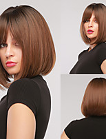 cheap -Synthetic Wig Natural Straight Bob Wig Short Black / Brown Synthetic Hair Women's Cosplay Party Fashion Black Brown