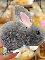 cheap -1pcs Kids / Toddler Girls' Sweet Daily Wear Rabbit Animal Polyester Hair Accessories White / Blue / Purple One-Size