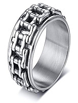 cheap -pj jewelry mens bicycle chain links biker ring stainless steel motorcycle chain spinner ring for stress relief