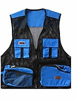 cheap -Women's Men's Hiking Vest / Gilet Fishing Vest Military Tactical Vest Summer Outdoor Quick Dry Lightweight Breathable Sweat wicking Jacket Top Climbing Camping / Hiking / Caving Sell one piece Black