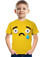 cheap -Kids Boys' Tee Short Sleeve Graphic Children Tops Active Yellow