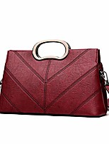 cheap -vegan leather women evening bag - ladies fashion clutch (wine red)