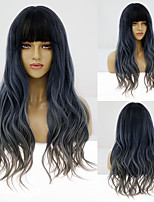 cheap -Synthetic Wig Body Wave Neat Bang Wig Medium Length A10 A11 A12 A1 A2 Synthetic Hair Women's Cosplay Party Fashion Gray