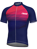 cheap -21Grams Men's Short Sleeve Cycling Jersey Spandex Dark Navy Gradient Bike Top Mountain Bike MTB Road Bike Cycling Breathable Quick Dry Sports Clothing Apparel / Athleisure