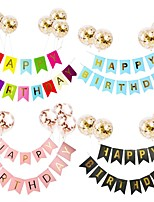cheap -appy Birthday Letter Banner Rose Gold blue Confetti latex Balloons Birthday Party Decorations Baby Shower gift Baloon