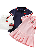 cheap -girls' dresses, summer clothes, new foreign style, children's baby polo skirts, pleated skirts, children's short-sleeved skirts, tide