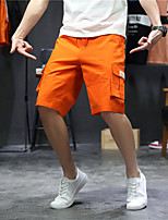 "cheap -Men's Hiking Shorts Summer Outdoor 12"" Regular Fit Breathable Soft Comfortable Wear Resistance Cotton Shorts Black Orange Light Grey Hunting Fishing Climbing M L XL XXL XXXL"