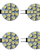 cheap -4pcs 3 W LED Bi-pin Lights 300 lm G4 15 LED Beads SMD 5050 Warm White Natural White White 9-30 V