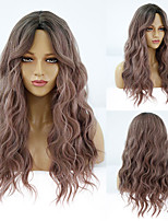 cheap -Synthetic Wig Deep Wave Middle Part Wig Medium Length A1 A2 A3 A4 A5 Synthetic Hair Women's Cosplay Party Fashion Pink Brown
