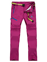cheap -Women's Hiking Pants Trousers Hiking Cargo Pants Convertible Pants / Zip Off Pants Solid Color Summer Outdoor Tailored Fit Waterproof Ultra Light (UL) Antistatic Quick Dry Spandex Pants / Trousers