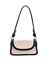 cheap -Women's Bags PU Leather Crossbody Bag Hobo Bag Zipper Daily Going out 2021 Handbags dark brown Black
