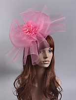 cheap -Elegant & Luxurious Retro Tulle Fascinators with Floral / Tiered 1 Piece Special Occasion / Party / Evening Headpiece