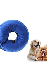 cheap -Dog Cat Pet Recovery Collar Dog Cone Protective Inflatable Collar Elizabeth circle Adjustable Soft Safety Anti-Bite Lick Wound Healing After Surgery Protective Outdoor Walking Solid Colored PVC Small