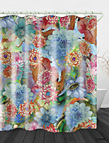 cheap -Beautiful Big Flowers Print Waterproof Fabric Shower Curtain for Bathroom Home Decor Covered Bathtub Curtains Liner Includes with Hooks