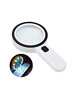 cheap -Magnifying Glass with Light, 30X Handheld Large Magnifying Glass 12 LED Illuminated Lighted Magnifier for Macular Degeneration, Seniors Reading, Soldering, Inspection, Coins, Jewelry, Exploring