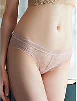 cheap -Women's 1 Piece Lace / Bow Brief Low Waist White Black Blue S M L