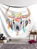 cheap -Wall Tapestry Art Decor Blanket Curtain Hanging Home Bedroom Living Room Decoration Polyester Skull Feathers