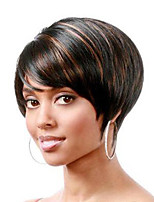 cheap -Synthetic Wig Natural Straight Short Bob Wig Short Black / Brown Synthetic Hair Women's Party Fashion Comfy Black Brown