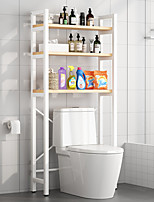 cheap -Bathroom Shelves Toilets Floor-to-ceiling Toilets Balcony Storage Rack  Household Free-punched