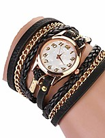 cheap -Women Retro Synthetic Leather Strap Watch Bracelet Wristwatch Wrist Watches