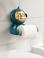cheap -Monkey Toilet Paper Roll Holder Kitchen Free Perforation Wall Hanging Rack Room Desktop Paper Towel Holder Toilet Paper Holder Resin